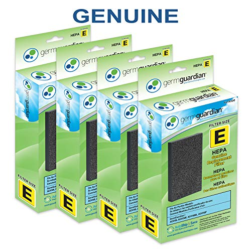 Germ Guardian GermGuardian Air Purifier Filter FLT4100 Genuine HEPA Replacement Filter E for AC4100, AC4100CA AC4150BL, AC4150PCA Air Purifiers ()