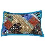 Indio étnico decoración para el hogar bordados Cojín / espejo decorativo Trabajo Patchwork Pillow Sham 28 'X 18' pulgadas
