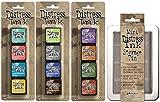 Ranger Tim Holtz Distress Mini Ink Pad Kits with Storage Tin - #13, #14, #15 - Bundle of 4