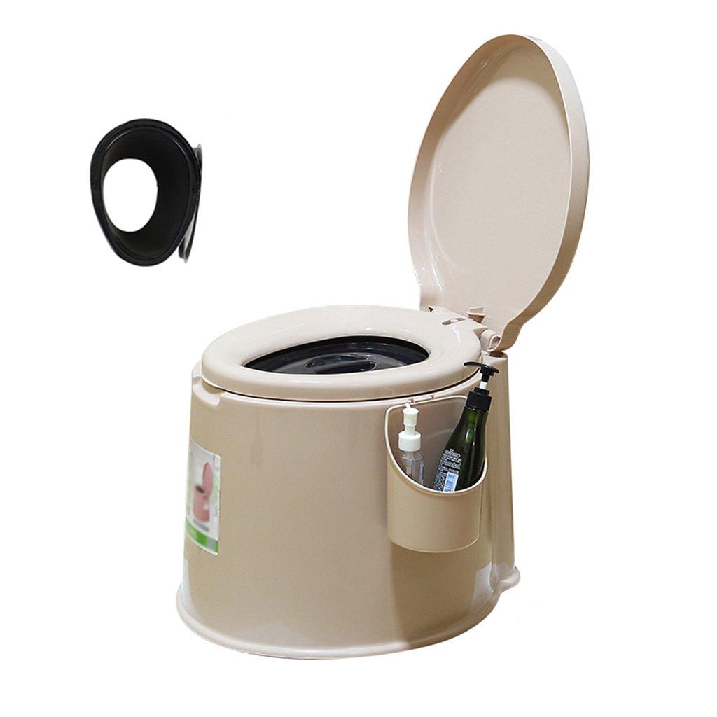 トイレチェアトイレ旅行キャンプハイキングピクニックアウトドア6L (色 : ベージュ, サイズ さいず : B) B07CWRSZTJ B|ベージュ ベージュ B