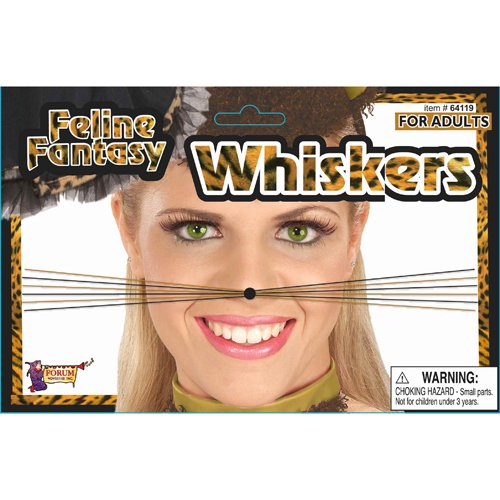Forum Novelties 64119 Feline Fantasy Leopard Whiskers Party Supplies, One Size/Regular (Pack of 12)