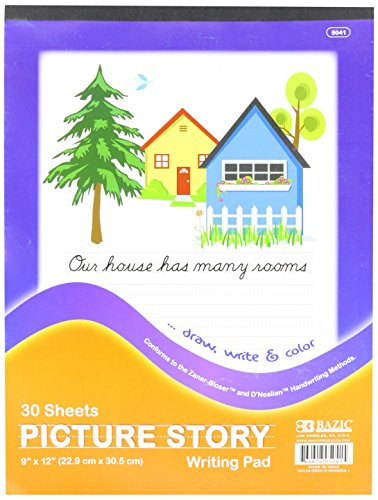 BAZIC Picture Story Pad, 9 x 12 Inch, 30 sheets