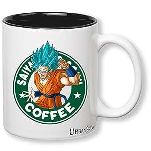 Dragon Ball Z Goku Super Saiyan God Starbucks Mug (Perfect Gift For Family, Friends, Goku & DBZ Fans!) - UrbanBrew LLC