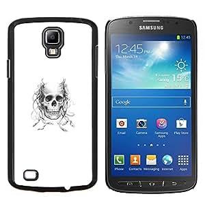 LECELL--Funda protectora / Cubierta / Piel For Samsung Galaxy S4 Active i9295 -- Diablo de cuernos Cráneo --