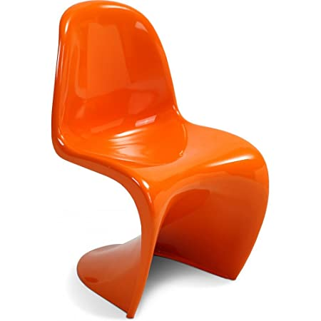 panton chair fibreglass inspired by verner panton orange