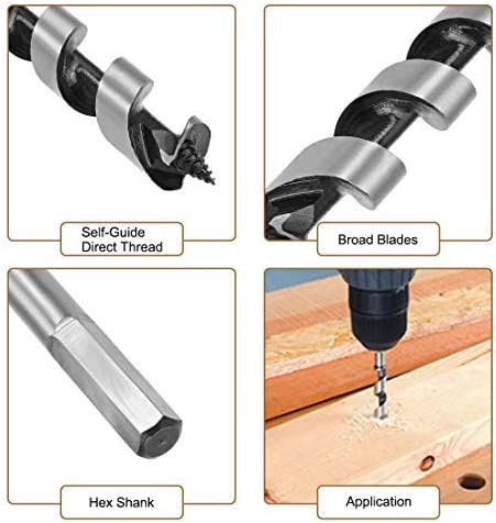 drill bit Hexagonal wooden shank Cut diameter 18 mm High carbon steel for electric carpentry bench drill