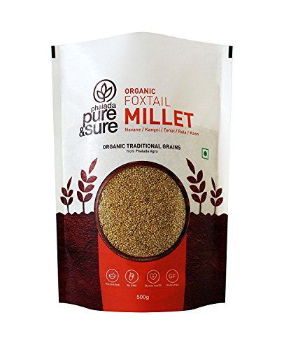 Pure & Sure Organic Foxtail Millet, 500g by PURE PLANT HOME
