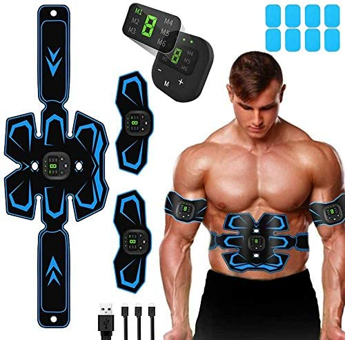 with 10 Modes /& 20 Levels Operation Abdominal Toning Belt Muscle Trainer,Portable Fitness Trainer for Abdomen ENBIHOUSE Abs Stimulator,Abs Stimulator Muscle Toner Arm and Leg