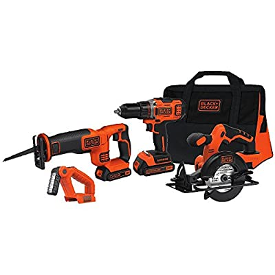 BLACK+DECKER BDCD2204KIT 20-Volt MAX Lithium-Ion 4-Tool Combo Kit