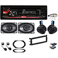 97-02 Jeep Wrangler Full System w/ Radio+Wire Kit+4) Speakers+Mounting Hardware