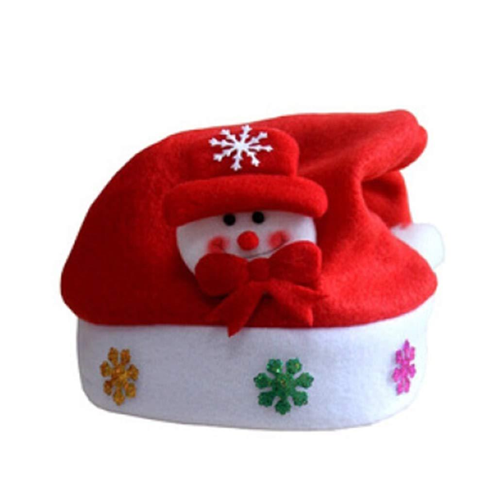 DDG EDMMS Clignotant de Noël Bonhomme de Neige Chapeau de Noël LED Unisexe Chapeau drôle de Vacances Cap Lumière (avec Batterie intégrée)