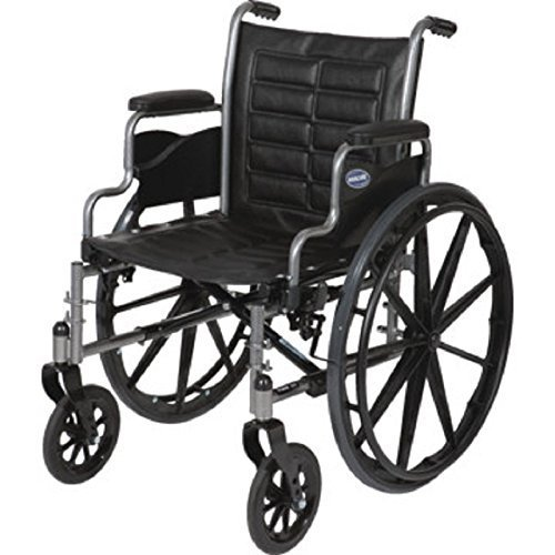 Lightweight Manual Wheelchair (Invacare Tracer EX2 - Size 20 x 16 - Large, TREX20RP w/Elevated Legrests, T94HA & Removable Desk-Length Arms) by Invacare sold by Phillips Health Care