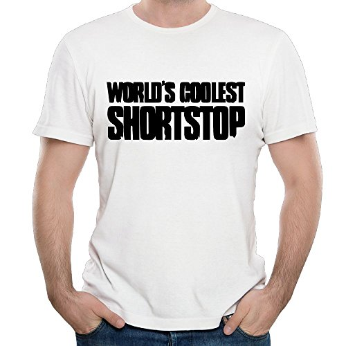 SmallHan Men World's Coolest shortstop Classic Travel White T-Shirts S Short ()