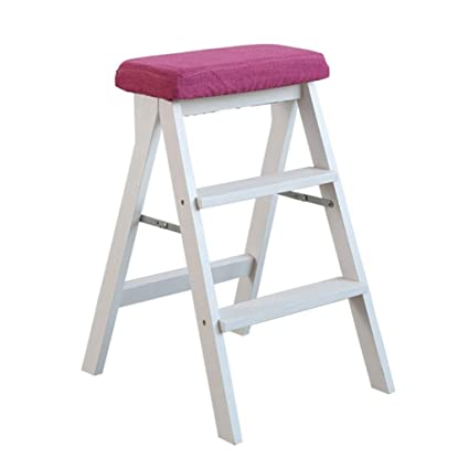 step stool solid wood step ladder stool multifunction folding kitchen steps library office 3 step mini - Kitchen Step Ladder