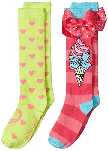 Jojo Siwa Big Girl's 2 Pack Knee High, Pink Bow, Fits Sock Size 9-11; Fits Shoe Size 4-10.5