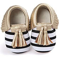 187d2509bfe Voberry® Infant Toddlers Baby Girls Soft Soled Tassel Crib Shoes PU  Moccasins (0~