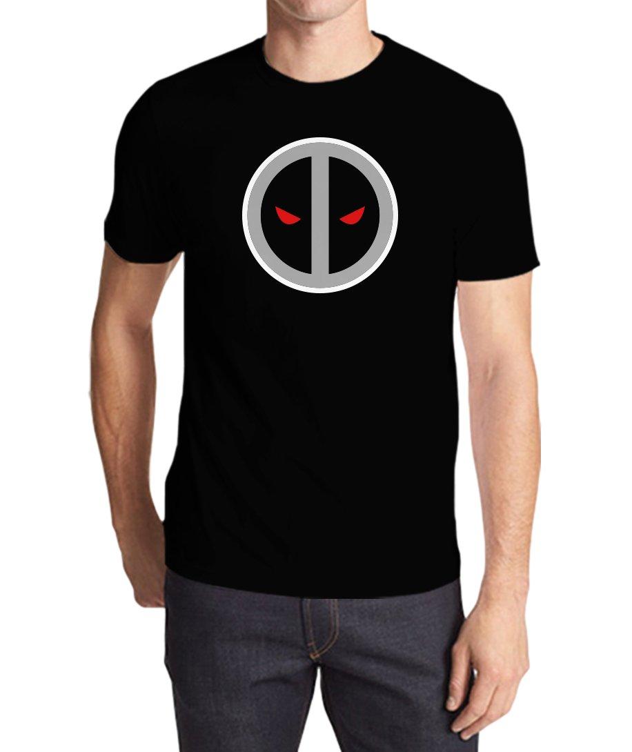 Marvel Deadpool 2 Movie Grey Logo S Black Tshirt
