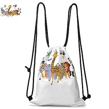 Drawstring Backpack Christmas Giraffe Rucksack