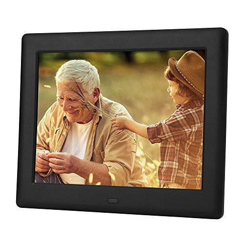 DBPOWER HD Digital Photo Frame IPS LCD Screen with Auto-Rotate/Calendar/Clock Function & Remote Control (7 inch) by DBPOWER