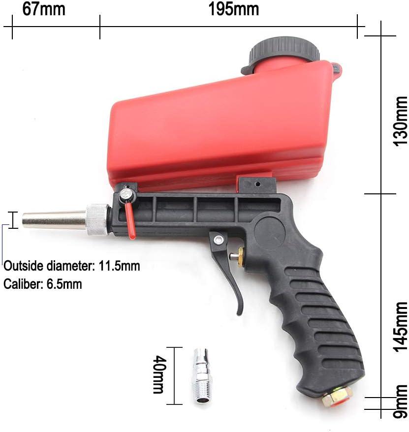 APROTII Abrasivo Aire Arena Blaster Pistola Sandblaster Profesional Sandblaster Voladura M/áquina Mano Gravedad Feed Media Voladura Pistola