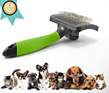bee-zoo self cleaning pet slicker brush for small to medium dogs and cats with all types of coats - Pro pet grooming tools for shedding and dealing with mats, tough tangles or removing dead hair