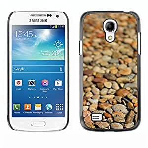 Soft Silicone Rubber Case Hard Cover Protective Accessory Compatible with SAMSUNG GALAXY? S4MINI - beach brown pattern focus