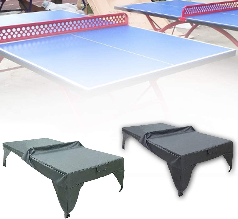 Matedepreso No nulo negro Funda para mesa de ping pong impermeable para exterior e interior protege tu mesa de ping pong de nieve lluvia heladas etc. sol Tama/ño libre