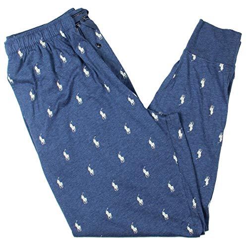 Logo Print Polo - Polo Ralph Lauren Mens Logo Print Relaxed Jogger Pants Blue L