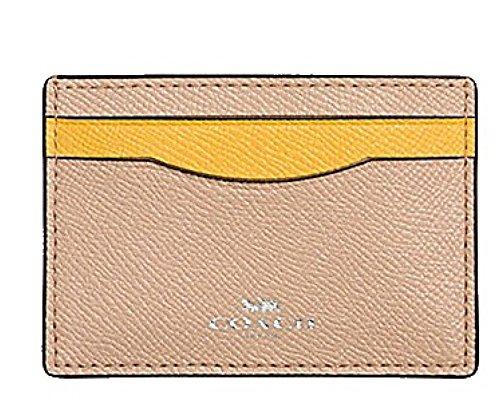 Beechwood Case (Coach Colorblock Crossgrain Leather Card Case F86927 Beechwood Banana)