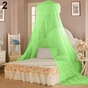 Ss-LqlhyHouse Bedding Decor Summer Sweet Style Round Bed Canopy Dome Mosquito Net