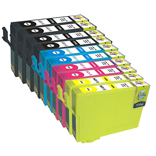 Ink & Toner Geek ® - 10 Pack Remanufactured Replacement Inkjet Cartridges for Epson T125 #125 (T125120, T125220, T125320, T125420) Black Cyan Magenta Yellow For Use With Epson Stylus NX125 Stylus NX127 Stylus NX130 Stylus NX230 Stylus NX420