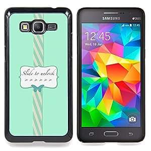 """Planetar ( Texto Diapositiva para desbloquear Frame Posters"""" ) Samsung Galaxy Grand Prime SM-G530F G530FZ G530Y G530H G530FZ/DS Fundas Cover Cubre Hard Case Cover"""