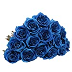 AmyHomie-Artificial-Flowers-Silk-Roses-Bouquet-Home-Wedding-Decoration-Pack-of-15