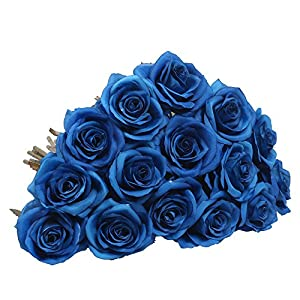 AmyHomie Artificial Flowers Silk Roses Bouquet Home Wedding Decoration Pack of 15 3