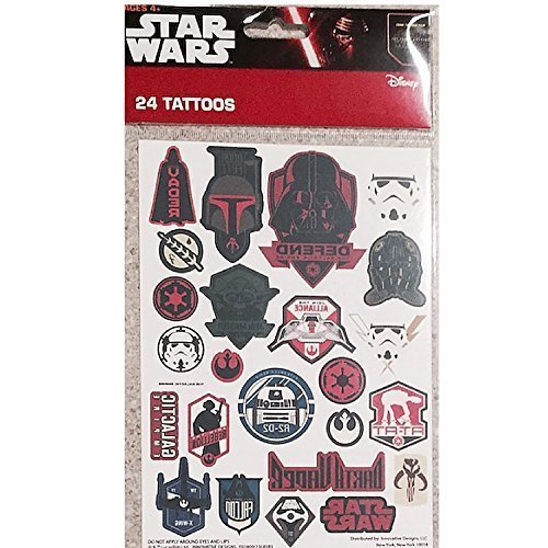 New Star Wars Temporary Tattoos 24 From The New Film The Force Awakens Disney (Zombie Temporary Tattoos)