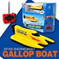 Litzpy's High Speed Gallop RC Boat Remote Control Electric Boat Yellow