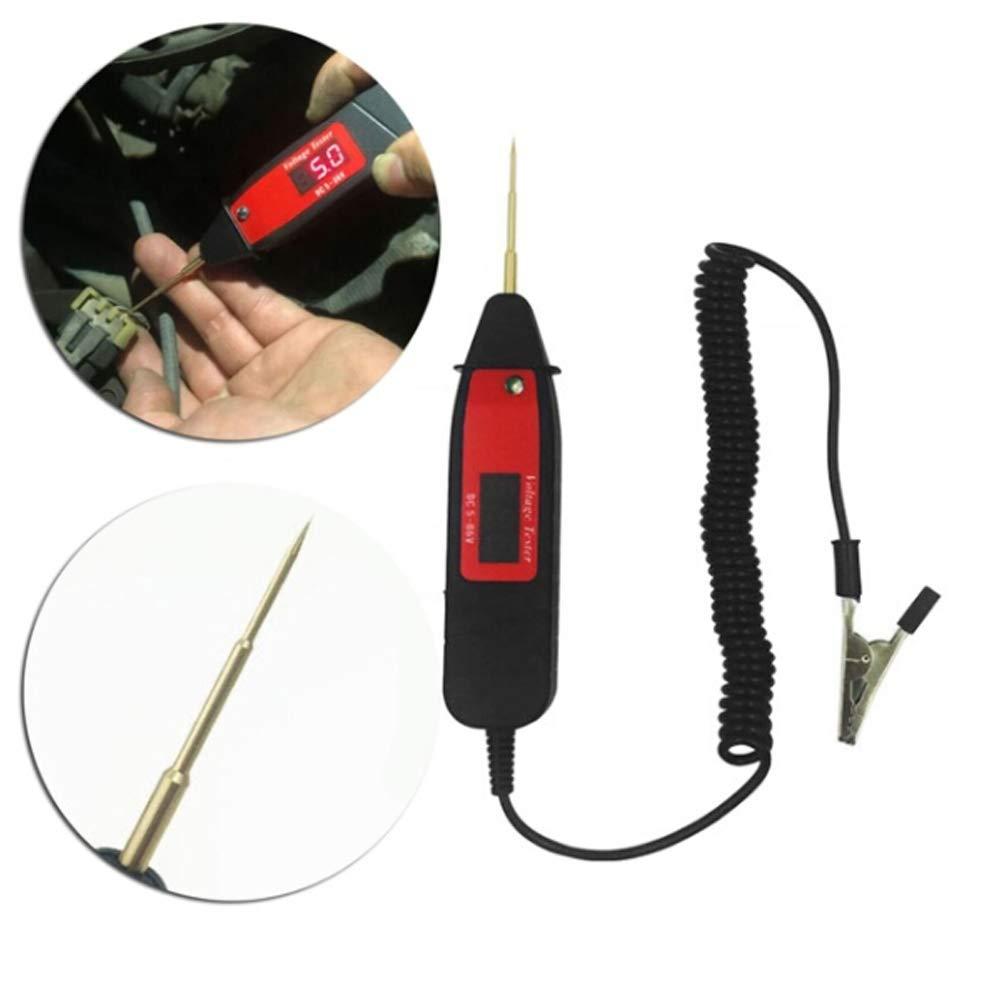 vitihipsy Auto Circuit Test Pen Voltage Gauge Tester Voltmeter Diagnostic Electric Voltage LED Light Test Pen