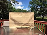 """Hentex Outdoor TV Cover 55"""" with Velvet Soft Liner, Bottom Zipper, Remote Control Pocket, Universal Weatherproof Protector for LCD, LED, Plasma Television Sets, Khaki(5103)"""
