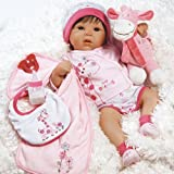 Paradise Galleries Lifelike Realistic Weighted Baby Doll, Tall Dreams, 10 Piece Ensemble, 19-inch, Ages 3+