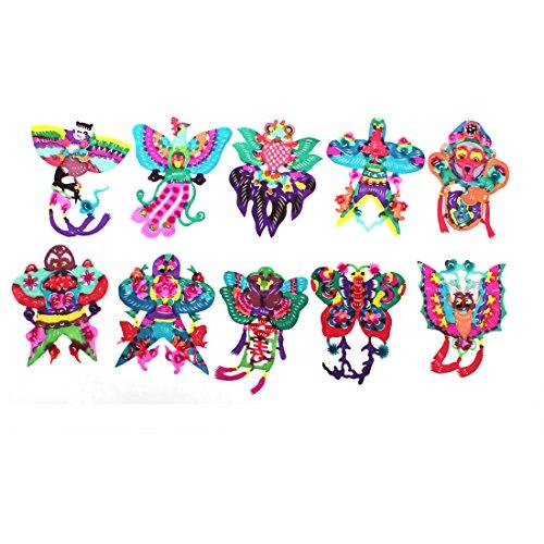 Bee Monkey Shape Handmade Paper Cut Cutting Colorful 10 Pcs