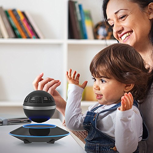 Levitating Bluetooth Speaker, ZVOLTZ Portable Floating Wireless Speaker with Bluetooth 4.0, 360 Degree Rotation, Built-in Microphone, One Touch Control for Bluetooth Connected Devices - Matte Black by ZVOLTZ (Image #6)
