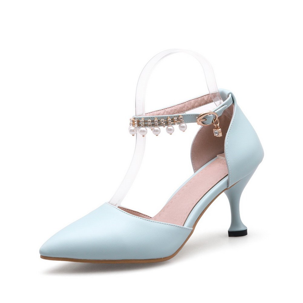 AdeeSu SLC04115 - Sandalias con cuña Mujer 36 2/3 EU|Azul