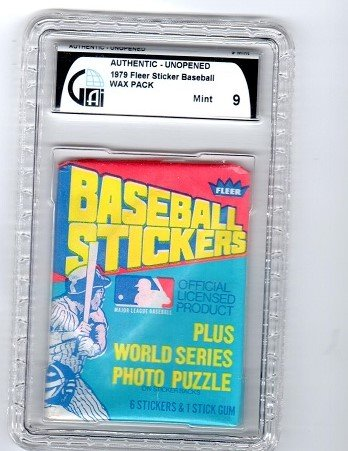 1979 Fleer Baseball Stickers Pack Graded GAI -
