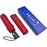 Compact Windproof Travel Umbrella By SBDW - Automatic Protection - In Gift Box
