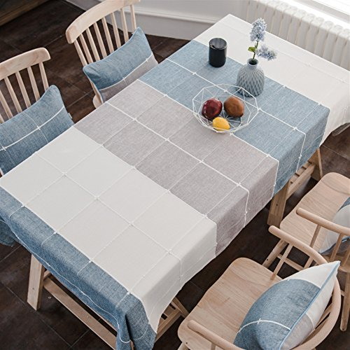 Liveinu Handmade Mediterranean Style Table Cloth Rectangular Tablecloth with Embroidery Vintage Furniture Protective Cover Tapestry Modern Decortive Tablecloth 50