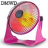Portable Personal Heater Electric warmer 220V 200W air Warm Winter Mini desktop Fan Heater Household Home Appliance EU US plug (Pink)