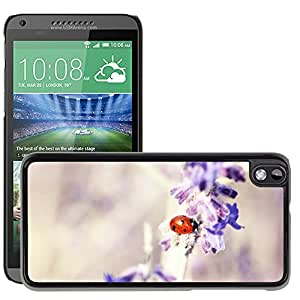 Super Stella Slim PC Hard Case Cover Skin Armor Shell Protection // M00146713 Ladybug Lavender Plant Flora Macro // HTC Desire 816