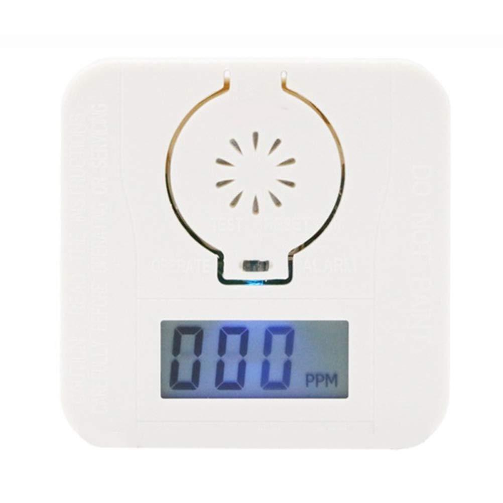 Detector de CO con Pantalla Digital bater/ía reemplazable Sensor preciso con Vida /útil de 10 a/ños Alarma de mon/óxido de Carbono