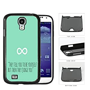 Be Yourself Quote Infinity Symbol Mint Hard Plastic Snap On Cell Phone Case Samsung Galaxy S4 SIV I9500 by icecream design
