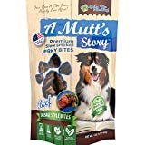 A Mutts Story Bite Size Pieces Naturally Slow Smoked Gourmet Beef Sausage Dog Jerky Treats | Gluten Free, No Corn or Soy | Crafted in Small Batches Healthy Soft Jerky Dog Treats Made in the USA | 1lb
